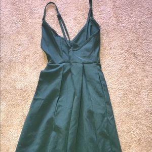 Olive green formal dress